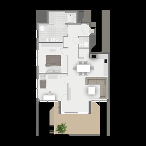 Grundriss Wohnung 1.1