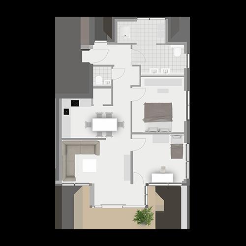 Grundriss Wohnung 1.2