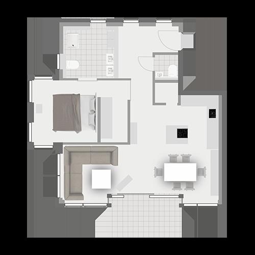 Grundriss Wohnung 1.3