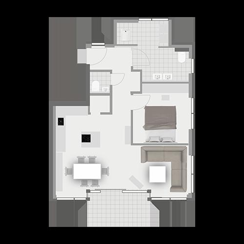 Grundriss Wohnung 1.4
