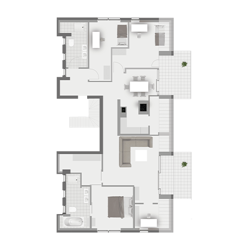 Grundriss Wohnung 2.5