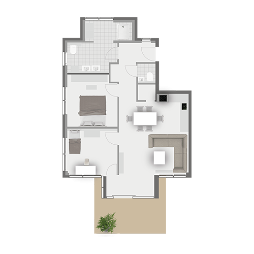 Grundriss Wohnung 2.1