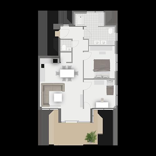 Grundriss Wohnung 2.2