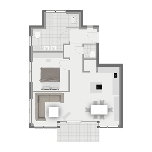 Grundriss Wohnung 2.3