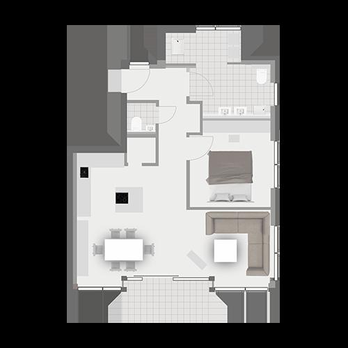 Grundriss Wohnung 2.4